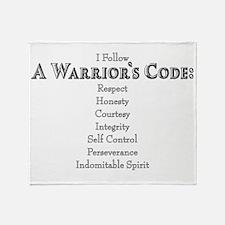 A Warriors Code Throw Blanket