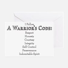 A Warriors Code Greeting Card