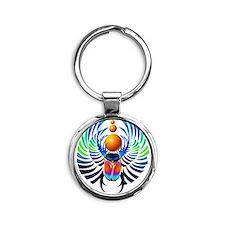 Scarab-The Divine Round Keychain