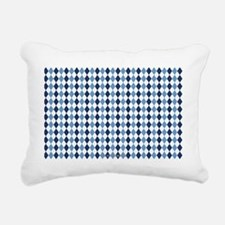 UNC Argyle Carolina Blue Rectangular Canvas Pillow