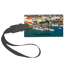 Oranjestad Marina Aruba11.5x9 Luggage Tag