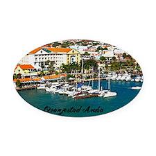 Oranjestad Marina Aruba11.5x9 Oval Car Magnet