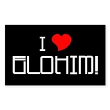 Elohim! Rectangle Decal