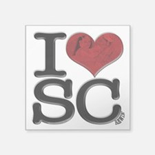 "I Love SCrewin Square Sticker 3"" x 3"""