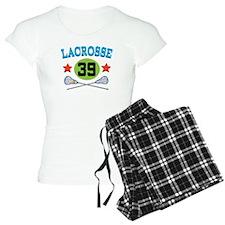 Lacrosse Player Number 39 Pajamas