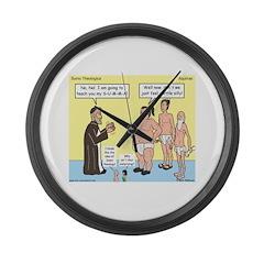 Sumo Theologica Large Wall Clock