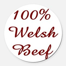 100% Welsh Beef Round Car Magnet
