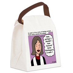 Kierkegaard Sermons Canvas Lunch Bag