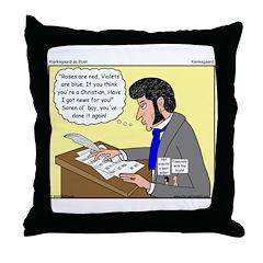 Kierkegaard Poetry Throw Pillow