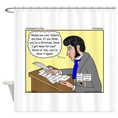 Kierkegaard Poetry Shower Curtain