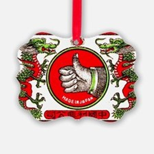 Japanese Thumbs Up Dragons Matchb Ornament