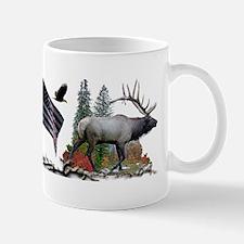 Bull Elk American Flag Mug