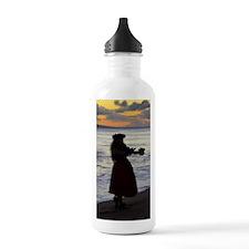 Hula Dancer at sunset Water Bottle