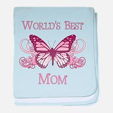 World's Best Mom (Butterfly) baby blanket