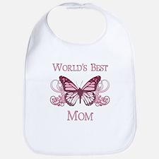 World's Best Mom (Butterfly) Bib