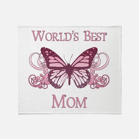 World's Best Mom (Butterfly) Throw Blanket