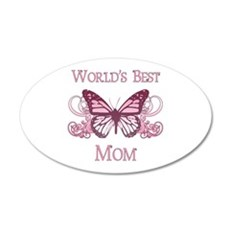 World's Best Mom (Butterfly) Wall Decal