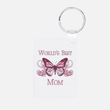 World's Best Mom (Butterfly) Keychains