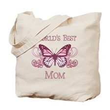 World's Best Mom (Butterfly) Tote Bag
