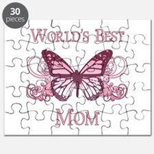 World's Best Mom (Butterfly) Puzzle