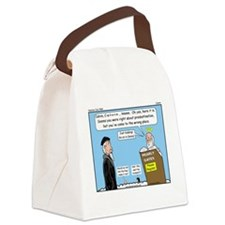 Calvin and Predestination Canvas Lunch Bag