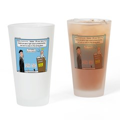 Calvin and Predestination Drinking Glass