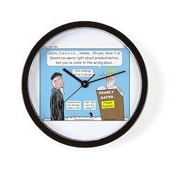 Calvin and Predestination Wall Clock