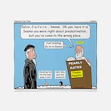 Calvin and Predestination Throw Blanket