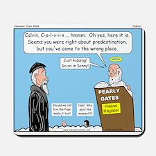 Calvin and Predestination Mousepad