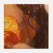 Gustav Klimt Art Tile Coaster Set - Goldfish P2of3