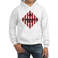 Flammable Solid Warning Sign Hoodie
