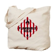 Flammable Solid Warning Sign Tote Bag
