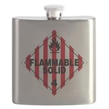 Flammable Solid Warning Sign Flask