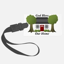 God Bless Our Home Luggage Tag