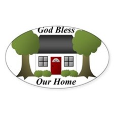 God Bless Our Home Decal