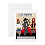 Offering Pirates Greeting Card