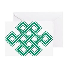 Endless_Knot_Green Greeting Card