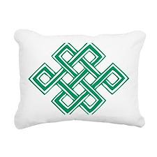 Endless_Knot_Green Rectangular Canvas Pillow