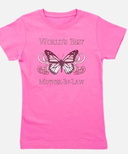 World's Best Mother-In-Law (Butterfly) Girl's Tee