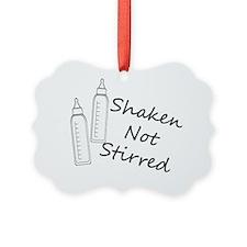 Shaken Not Stirred White Botle Ornament