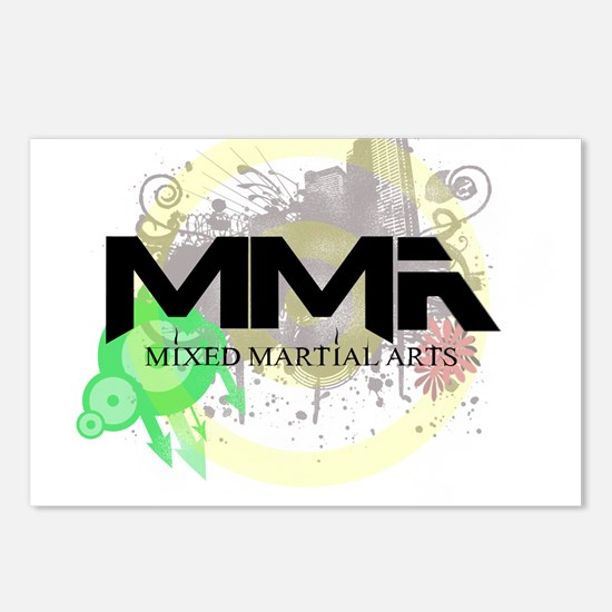 Mixed Martial Arts Graffiti Postcards (Package of