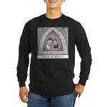 Stained Glass Window Long Sleeve Dark T-Shirt