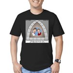 Stained Glass Window Men's Fitted T-Shirt (dark)