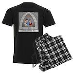 Stained Glass Window Men's Dark Pajamas