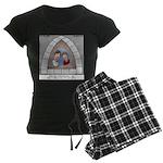 Stained Glass Window Women's Dark Pajamas