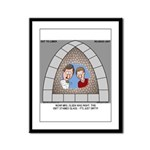 Stained Glass Window Framed Panel Print