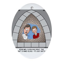 Stained Glass Window Ornament (Oval)