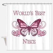 World's Best Niece (Butterfly) Shower Curtain