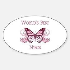 World's Best Niece (Butterfly) Decal