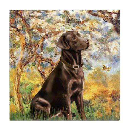 Spring (MP) - Chocolate Lab 11 Tile Coaster